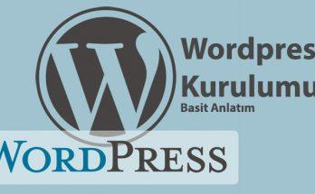 wordpress kurulumu basit anlatım gorsel